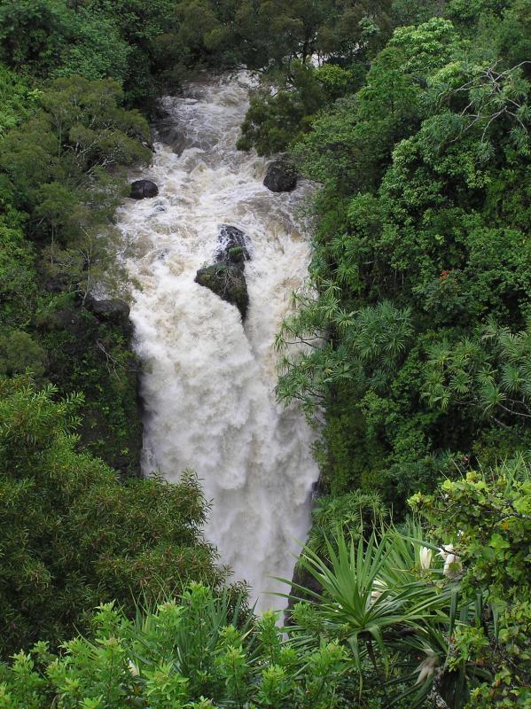 Lower Puohokamoa Falls