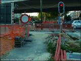 Rétrécissement... panneau à gauche... (19/9/2005)