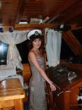 Lilia on the yacht