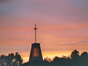 evening church steeple