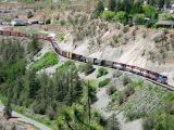 BC Rail train,Lillooet