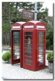 Old style phone booth on Highway 1 near Carmel, Ca.