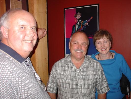 l-r, McPherson, Peb and Kathy Stone