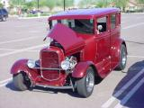 red Ford sedan