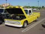 yellow Chevy pickup