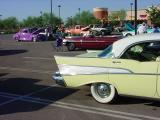 yellow 1957 Chevy  4 door hardtop