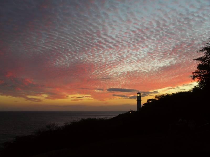 Diamond Head Lighthouse Sunset