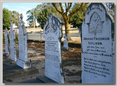 Gravestones with Old German epitaphs