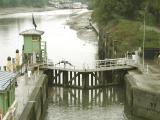 Lower lock gates, low tide.