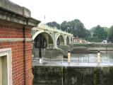 Bridge, down river, Surrey side.