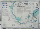 River Crane Walk. sign, just below Richmond footbridge, Middlesex side.