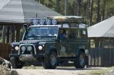 Nalle in his Land Rover Defender