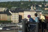 Tourists overlooking Stockholm