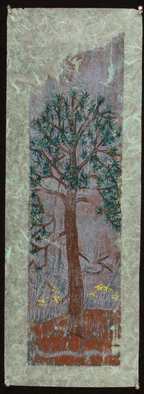 arbol (woodcut) 27 x 9.5