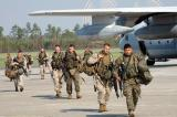 The marines arrive at Stennis airport