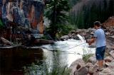 July 10 2005 Trav fishing in Spring Creek Gunnison Colorado