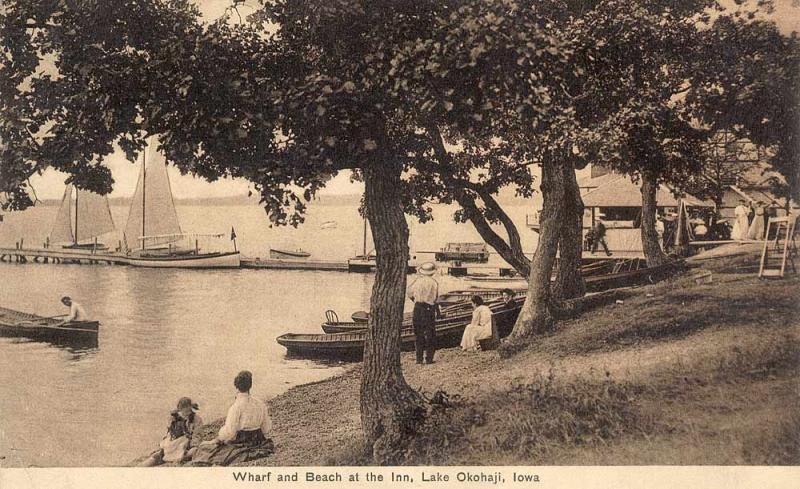Wharf and Beach at the Inn 1910