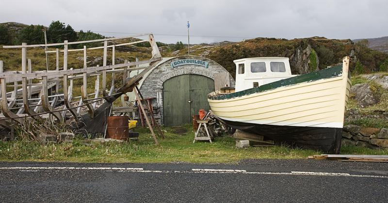 The shed of the well known boatbuilder and author: John MacAulay