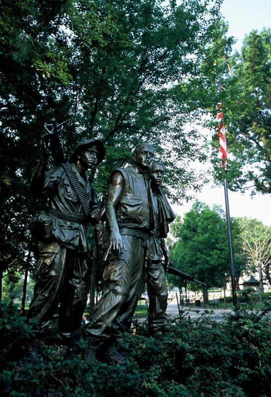Standing guard overlooking their fallen comrades