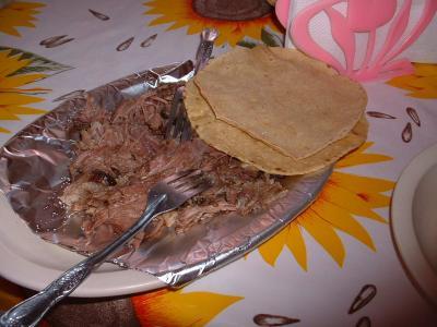 Barbacoa de carne de borrego