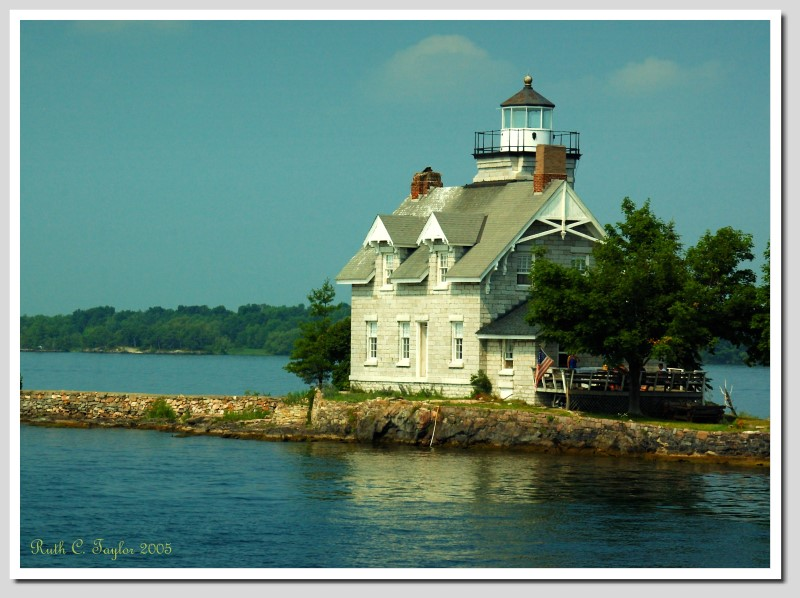 Three Sisters Island Light House <br/> in the Thousand Islands