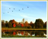Autumn Reflections at Peddlers Village
