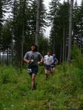 James Varner leading a pack