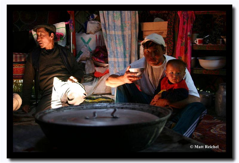 In the Yurt, Bayan-Olgii Aimag