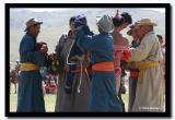 Dressing the Wrestelers, Naadam, Kharkhorin