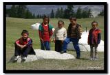 Group of Kids by their Gers, Altai Tavanbogd National Park