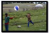Playing with a Beach Ball, Altai Tavanbogd National Park