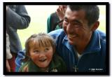 Father and Daughter Smiling, Altai Tavanbogd National Park