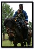 Father and Daughter on Horseback, Altai Tavanbogd National Park