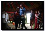The Family inside their Ger, Altai Tavanbogd National Park