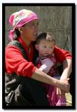 Mother with her Beautiful Daughter in Pink, Bayan-Olgii Aimag