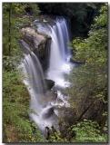Side view of Brasstown Falls