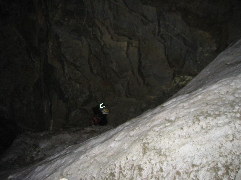 Snowfield in the southwest chute