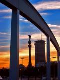 Columbus In Sunset