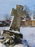 Stone cross in Brusno Nowe