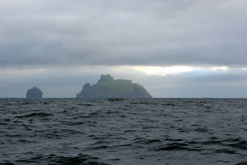 First view of Boreray and Stac Lee