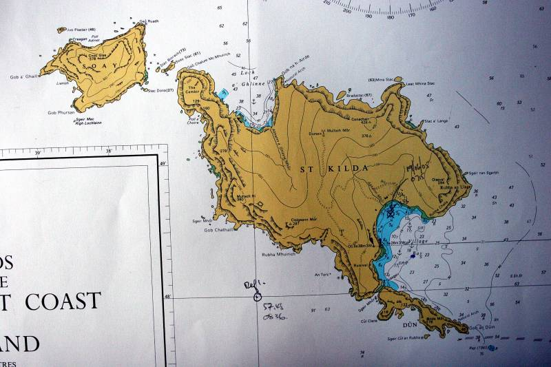 Admiralty Chart for Hirta and Soay