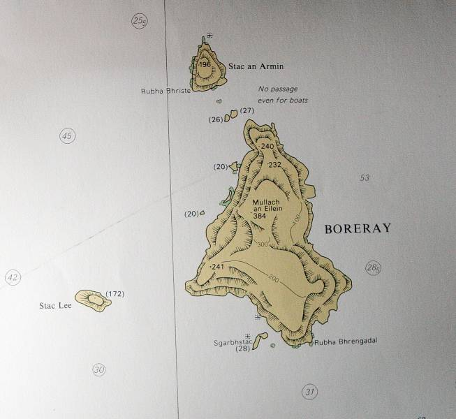 Admiralty Chart for Boreray