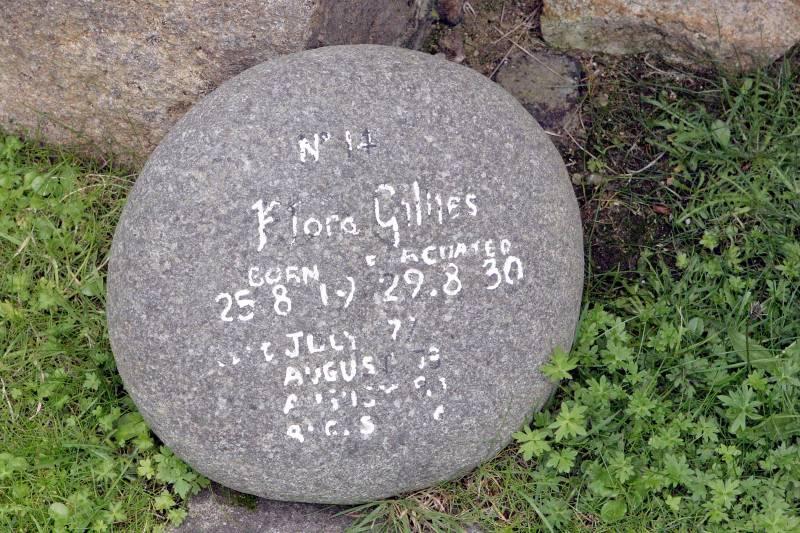 Memorial to Flora Gillies