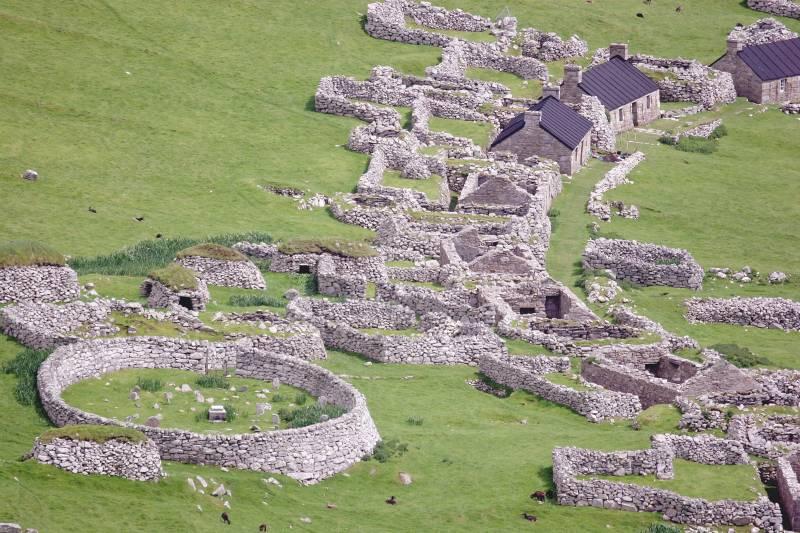 Village showing burial ground