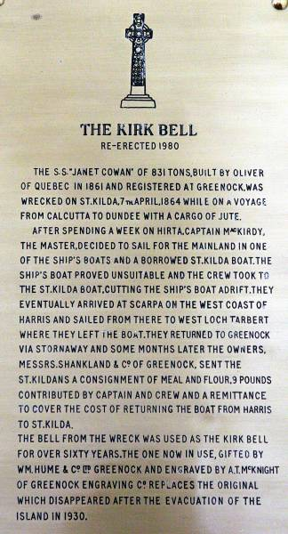 The story of the Kirk Bell and the S.S. Janet Cowan