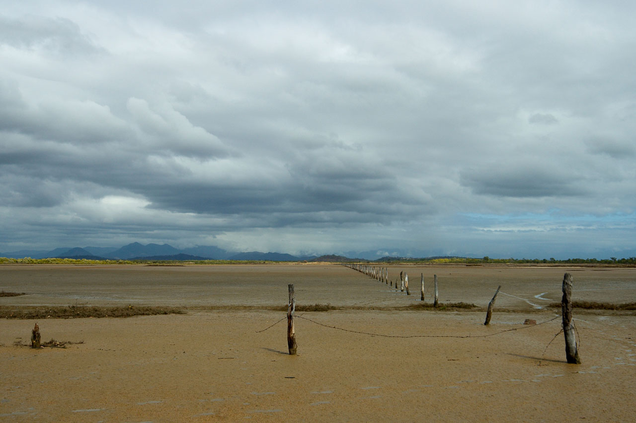 fence on tidal flats behind Shelley Beach  12 by 18 _DSC3712