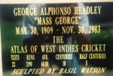 Memmorial Plaque for George Headley at Sabina Park