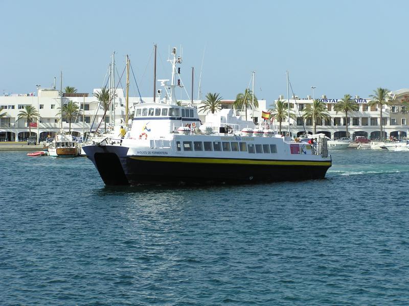 Aigues de Formentera leaving La Savina, Formentera