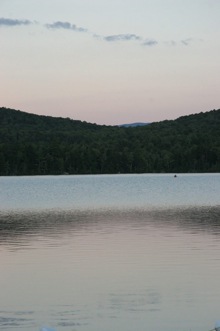 Indian Pond at sunset