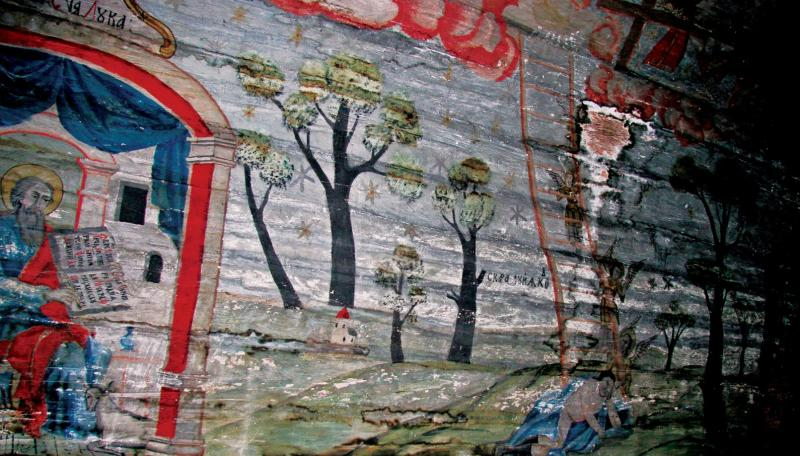 Folk Paintings inside church